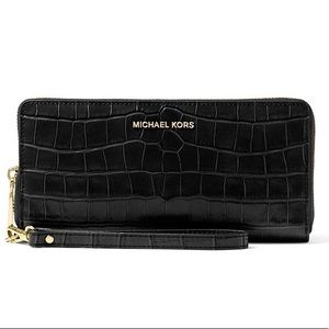 Michael Kors Crocodile Embossed Continental Wallet